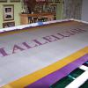 "Completed ""HALLELUJAH"" Silk Flag"