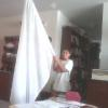 An anointed young man, Caleb from Bradenton, Florida when he received his 5ft White Silk Flag that he bought with his own saved money. 5/29/14