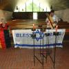 "Our ""Bless Israel"" Silk Flag in Israel 6/26/14"